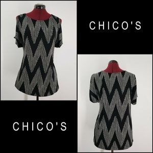 Chico's Tops - Chico's Woman Cold Shoulder Stretch Dress Size 2